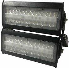 SILAMP Projecteur LED Industriel 100W IP65 Noir -
