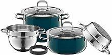 Silit Lot de 4 casseroles compactes pour induction
