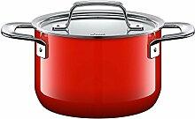 Silit Zeno Red Faitout Haut 16 cm avec Couvercle