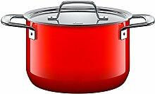 Silit Zeno Red Faitout Haut 20 cm avec Couvercle
