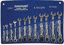 Silverline 794336 Jeu de 12 clés à cliquet