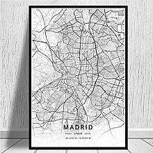 Simayi Carte du Monde Moderne Cartes De La Ville