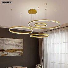 Simple Moderne LED Lustre Lumières Anneaux Ronds