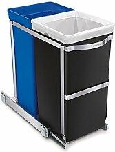 simplehuman, poubelle de recyclage coulissante,