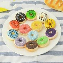 Simulation de faux aliments Donut Dessert,
