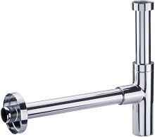 Siphon design lavabo tube réglable apparent