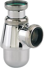 Siphon lavabo sortie 32 mm chromé - VALENTIN -