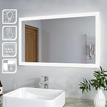 SIRHONA Miroir de salle de bain led rectangle