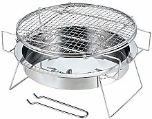 SIWEI Barbecue rond en acier inoxydable - Pliable