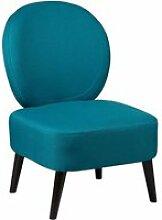 Skalan - fauteuil crapaud tissu coloris bleu canard