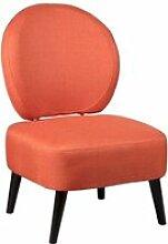 Skalan - fauteuil crapaud tissu coloris corail