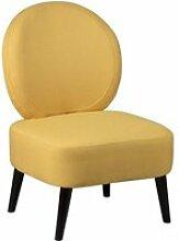 Skalan - fauteuil crapaud tissu coloris jaune