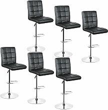 Skecten - 6x Tabourets de bar fauteuil chaise en