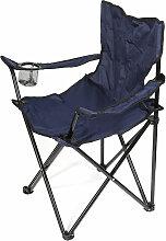 Skecten - Chaise de camping bleu foncé