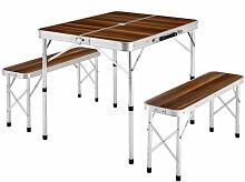 Skecten - Ensemble Table de Camping Pliante Valise