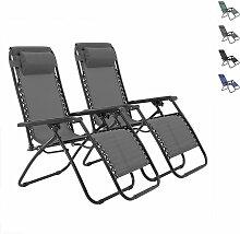Skecten - Lot de 2 Chaise Longue Inclinable Chaise