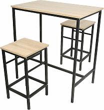 Skecten - Set Table Bar et 2 Tabourets Meubles