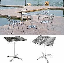Skecten - Table Bistro Haute de Bar Aluminium