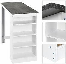 Skecten - Table de bar avec étagère 110x50x103