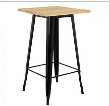 Skecten - Table de Manger Couleur Bois 60x60x110