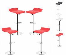 Skecten - Tabouret de bar lot de 4 design en cuir