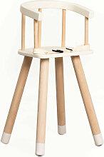 SKLUM Chaise haute en bois Dil Kids Bois - Blanc -
