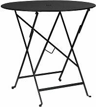 SKLUM Table de jardin pliante en acier Dreh (Ø77