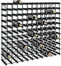 SKM Casier à Bouteilles pour 120 Bouteilles Noir