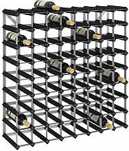 SKM Casier à Bouteilles pour 72 Bouteilles Noir