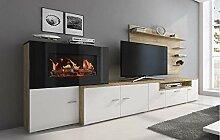 Skraut Home - Meuble de Salon avec cheminée