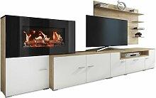 Skraut Home - Meuble salon+cheminée électrique,5