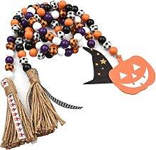 skrskr 2 PCS Halloween Perle en Bois Guirlande