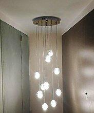 SKSNB 10 lumières Moderne escalier Long Lustre