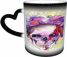 Skull Flowers Day Dead Coffee Mug Tea Cup Ceramic