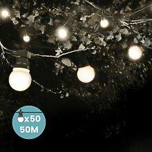 Skylantern - Guirlande Guinguette 50M Blanc -