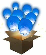 SKYLANTERN Lanterne Volante Balloon Bleu Roi x5