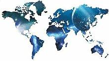 skyllc® Carte du Monde planète Amovibles Maison