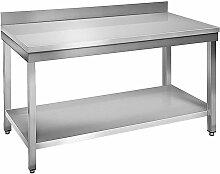Skyrainbow - Table à plancha tout inox 2 plateaux