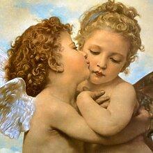 Slagman Célèbre Peinture Ange Enfant Baiser