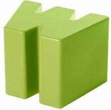 SLIDE tabouret bas DOUBLE U (Citron vert -