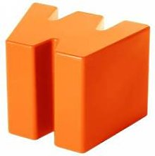SLIDE tabouret bas DOUBLE U (Orange -