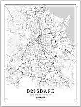 SLYBDA Impression Sur Toile, Australie Brisbane