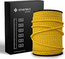 smartect Fil Electrique Textile pour Lampe - Jaune