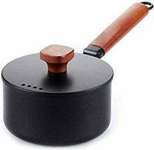 SMEJS Pot de soupe de cuisson en fonte marmite de