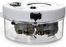 Smokus Focus Pot de rangement lumineux blanc avec