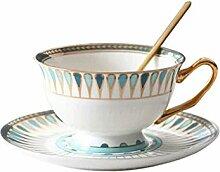 SMSOM Tasse à café avec Soucoupe pour Latte,