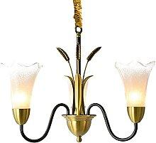 SMTAO Lustre, lustre en verre tout cuivre, lampes