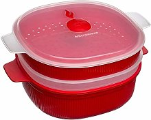 Snips Cisaille Micro-Onde, Plastique, Red, 2 Tier