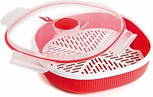Snips Cisaille Micro-Onde, Plastique, Red, Steamer