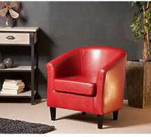 SO INSIDE Fauteuil cabriolet rouge Mana